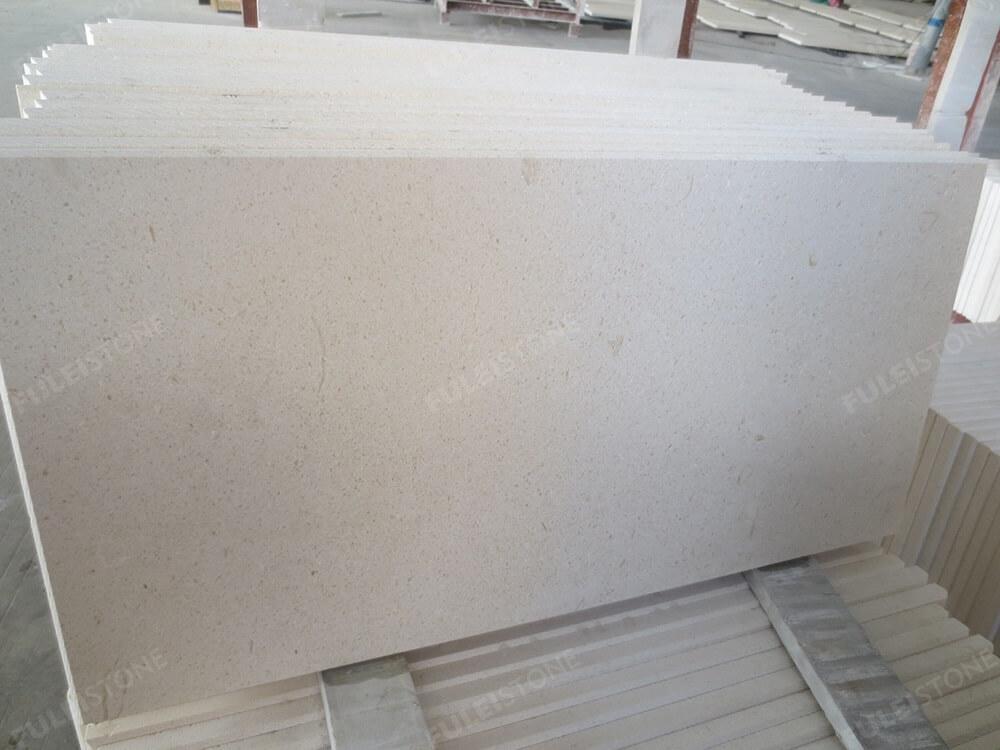 Honed White Lymra Limestone Tiles