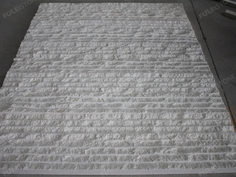 Natural Splitted White Lymra Limestone Tiles