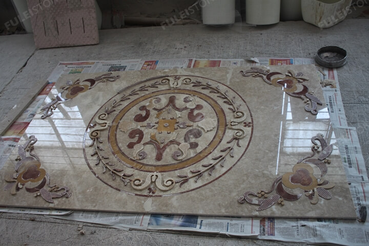 Waterjet Marble Tiles Layout