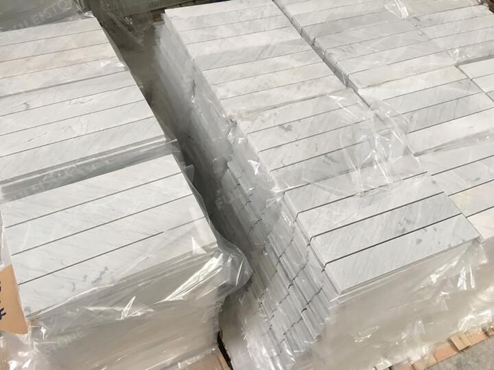 12x4inch lais grey marble tiles (1)