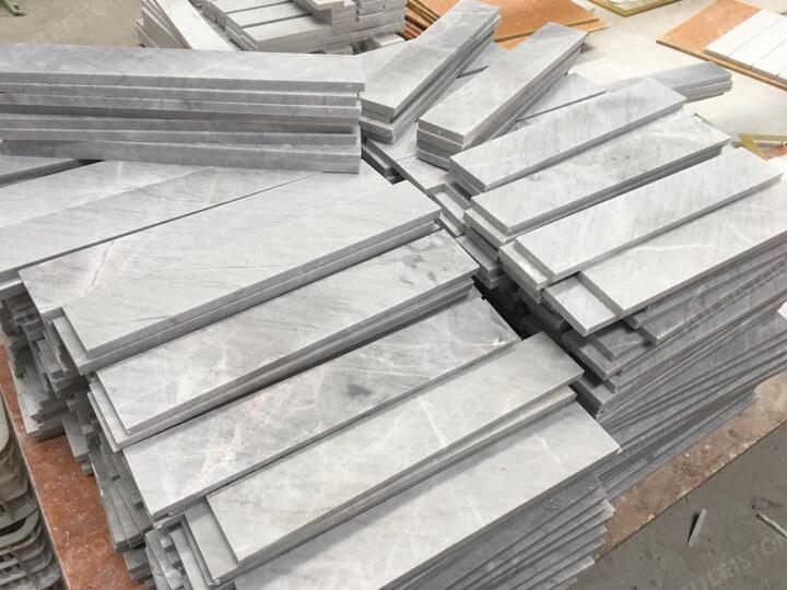 12x4inch lais grey marble tiles (2)