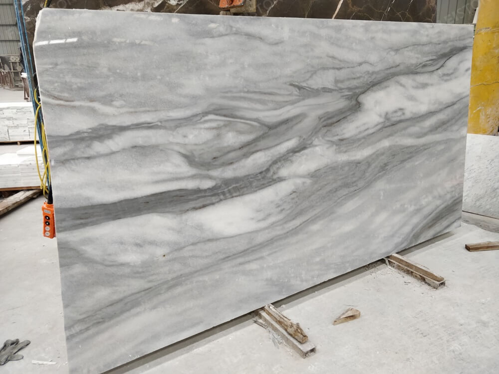 Cloudy Misty Marble Slab