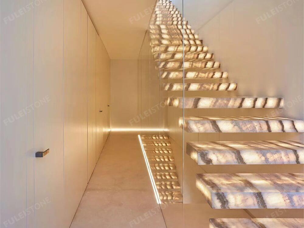 Polished Faraon Onyx Stairs