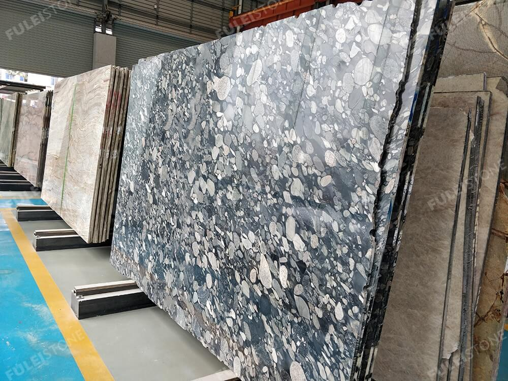 Polished Mariance Black Marble Slabs