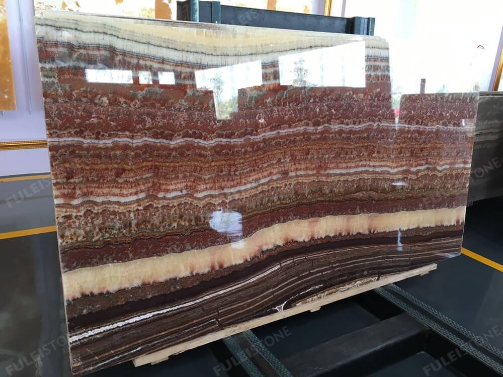 Polished Ruby Onyx Slabs