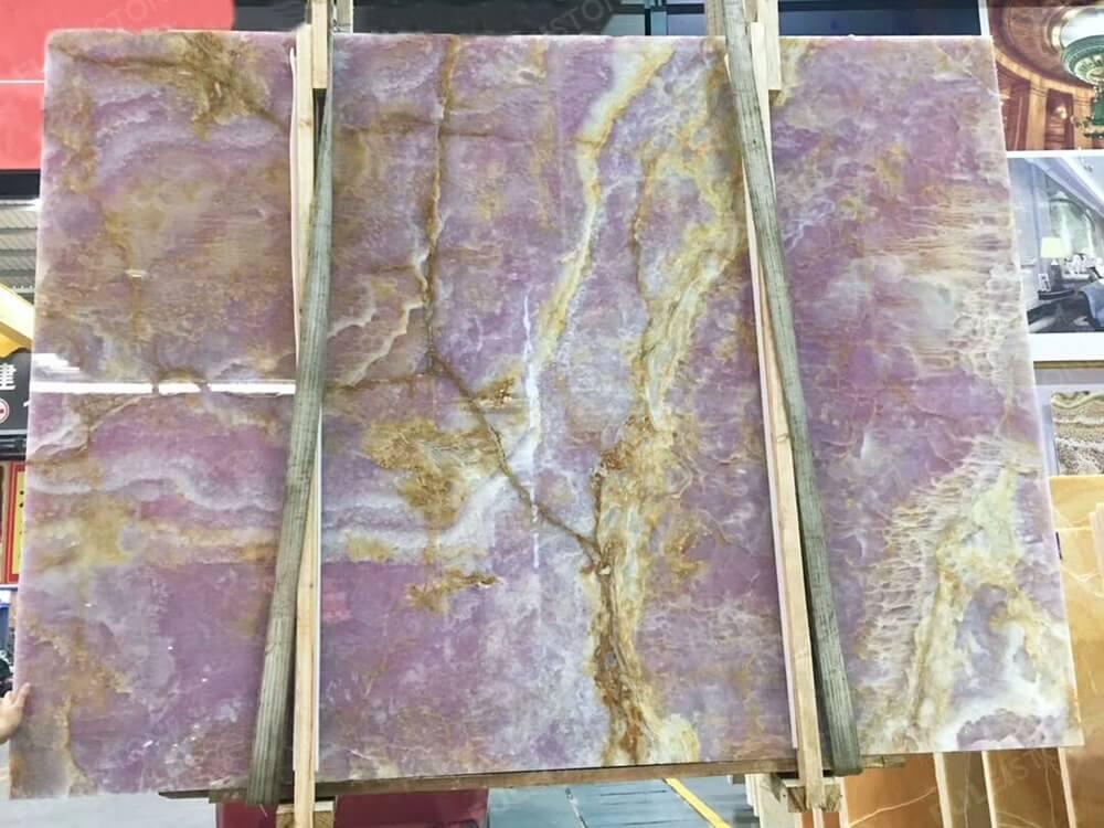 Purple Onyx Slab Polished