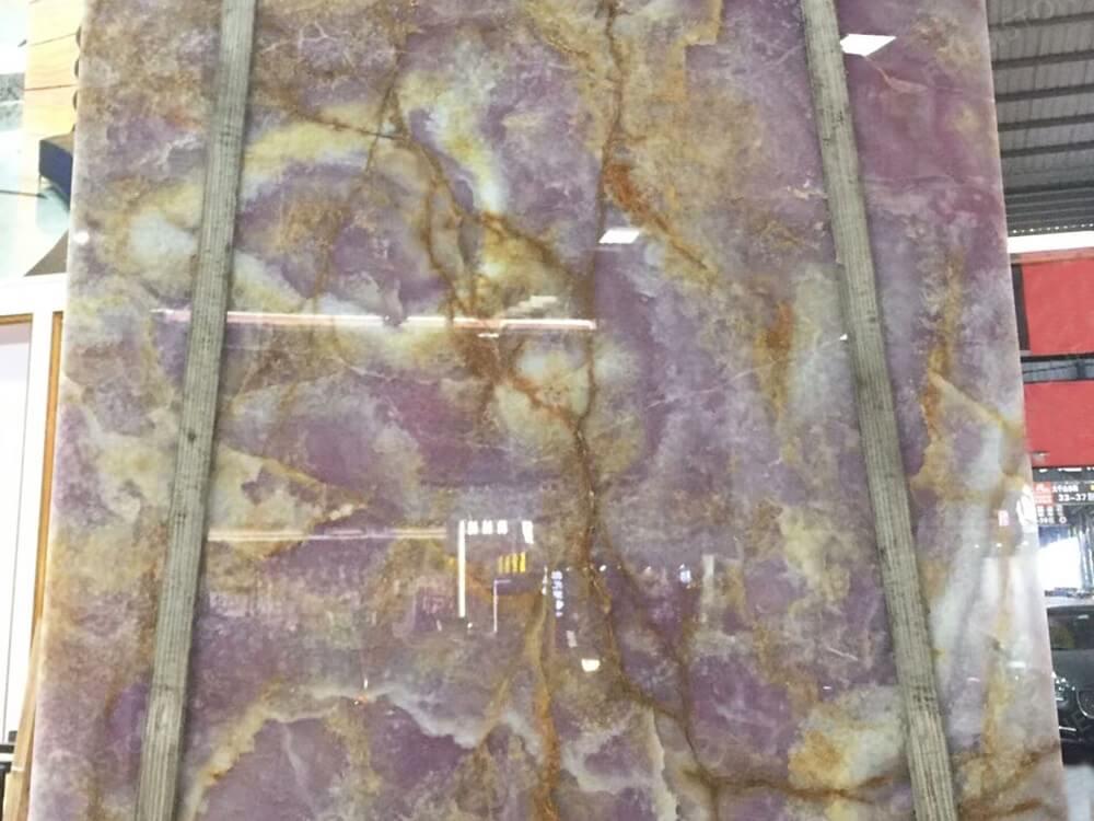 Translucent Purple Onyx Slab
