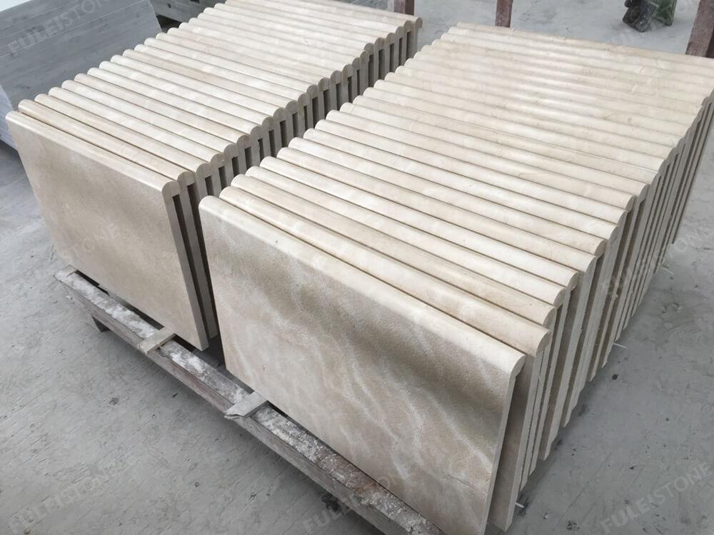 laminated bullnose crema marfil marble tile