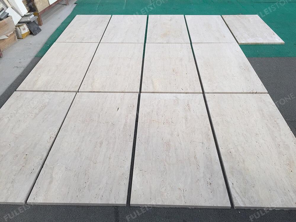 Beige Travertine Tiles Dry Lay
