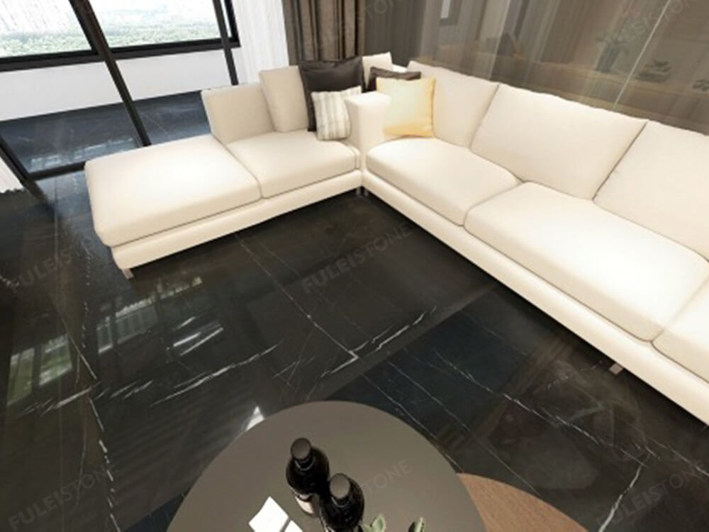 Pietra Grey Marble Floor Tiles