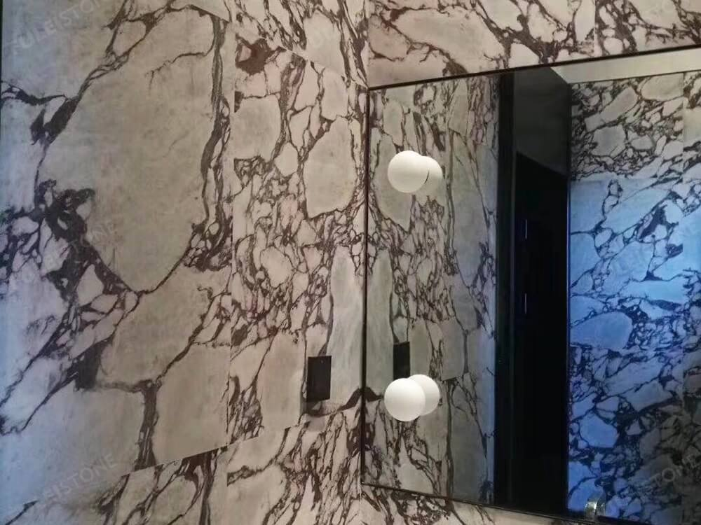 calacatta viola marble bathroom