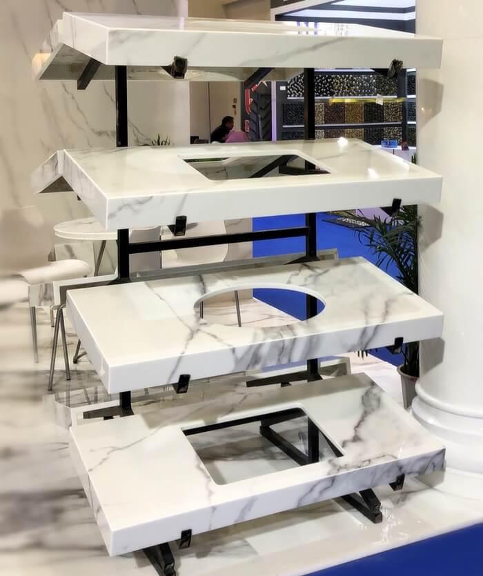 vanity tops by Nano Stone Table