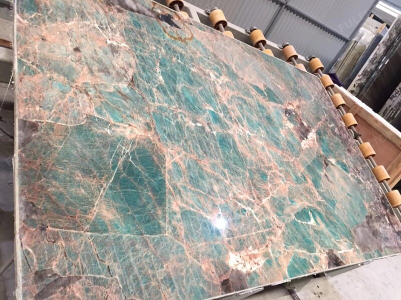 How to polished Amazonite Quartzite Stone
