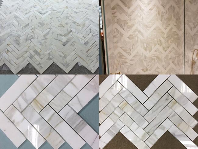 12x12' Calacatta Gold Marble Mosaic Tiles for bathroom
