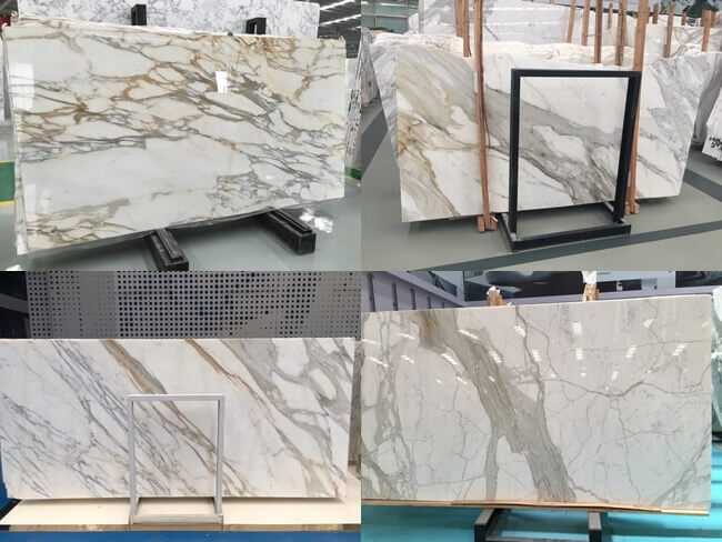 4 style calacatta gold marble slabs