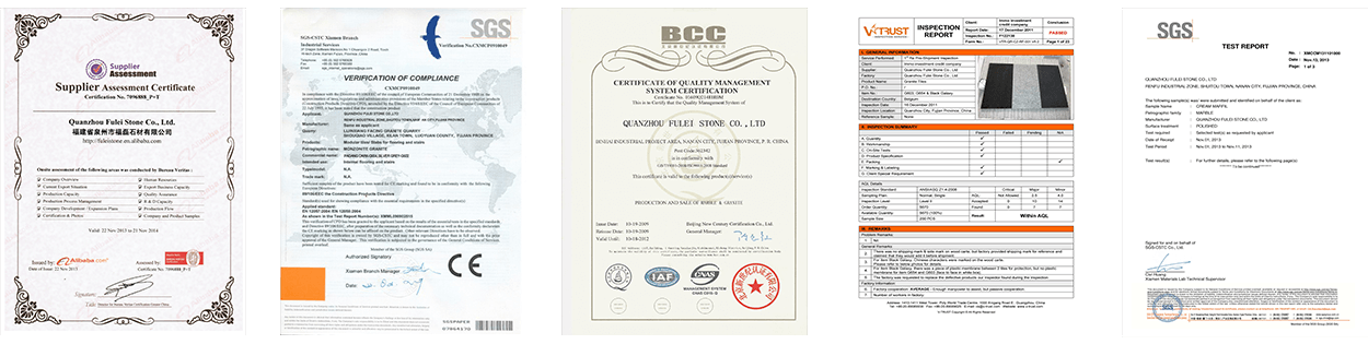 Fulei Stone's Certificates and test reports 3