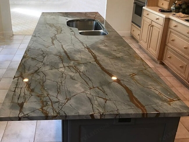 Blue Roma Quartzite for kitchen countertop