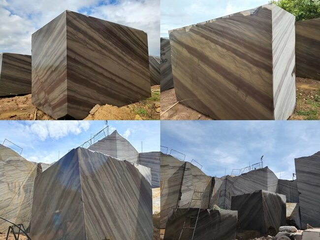 Elegant Brown Quartzite Blocks and Quarry in Brazil