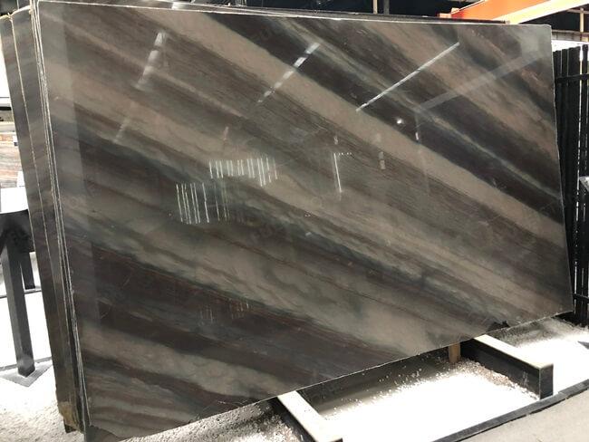 Elegant Brown Quartzite Slabs with Diagonal Veins