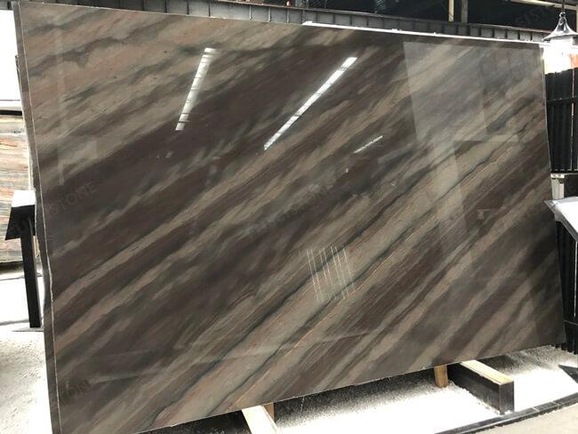 Elegant Brown Quartzite Slabs with Polished Finish