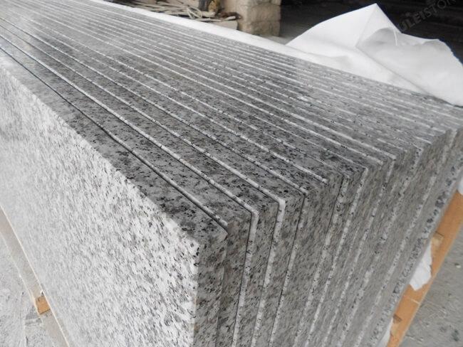 Luna Pearl Grnaite Countertop edge finish
