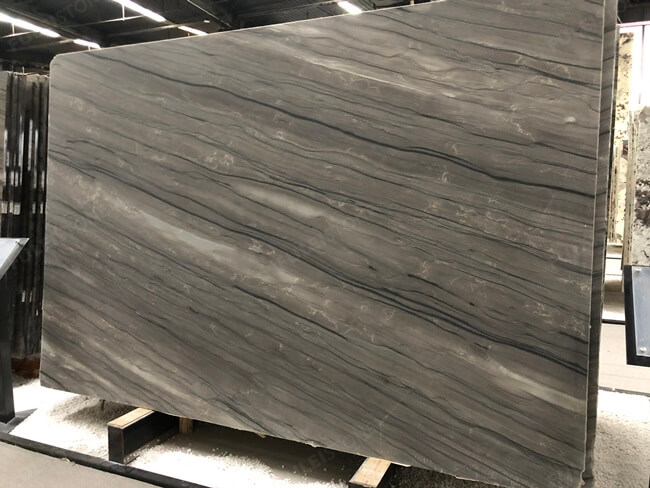 Sequoia Brown Marble Slabs with Honed Finish