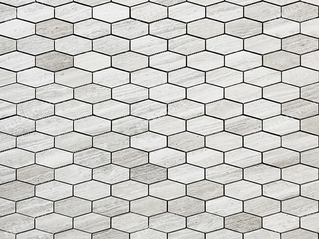 White Wood Marble Honeycomb Mosaic Tiles (2)