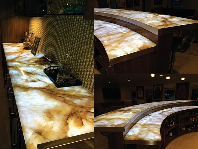 backlit onyx for countertops