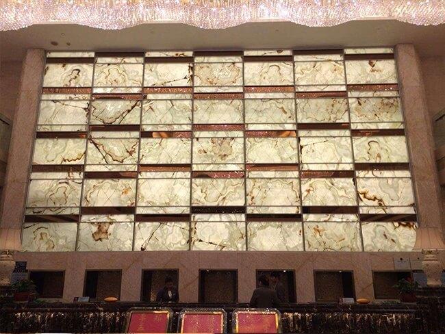 backlit onyx for hotel lobby