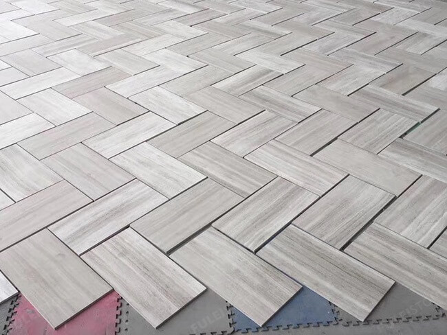 white wood marble tiles dry laying (1)