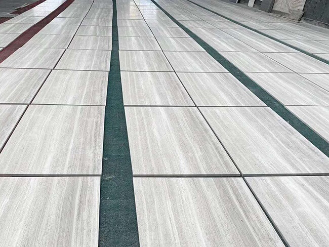 white wood marble tiles dry laying (5)