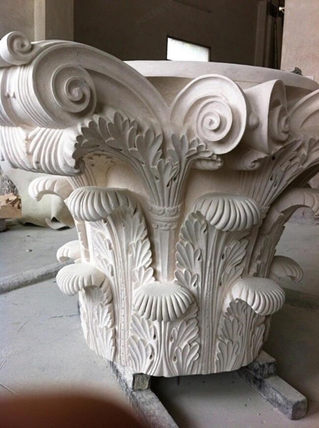 Corinthian Columns of Marble Stone (3)