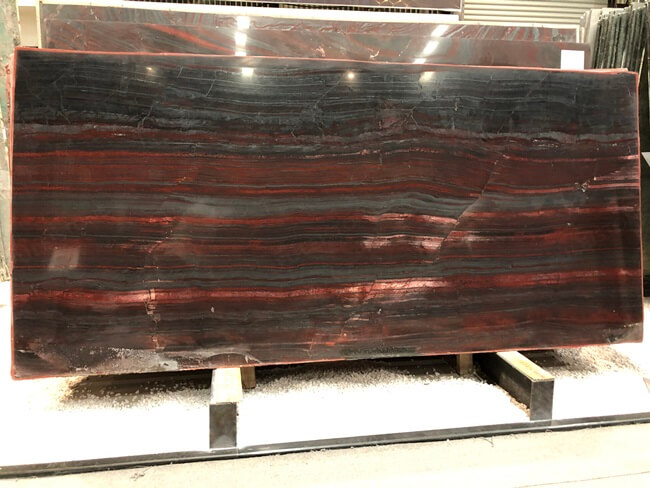 Iron Red Granite Slabs Polished Finish