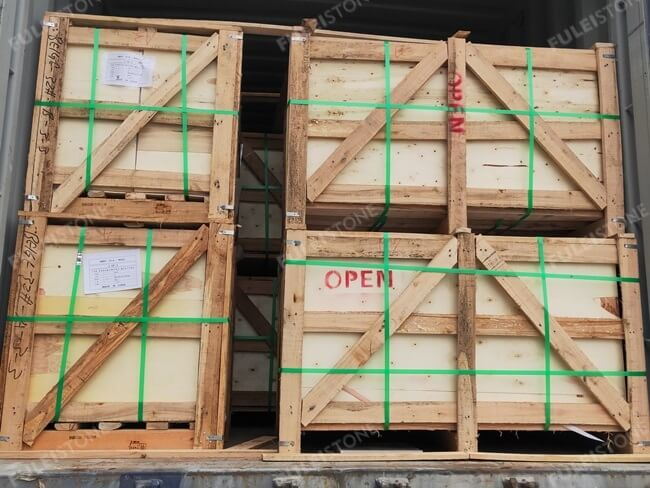 Ottoman Beige Marble loading and packing