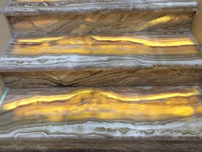 backlit onyx travertine