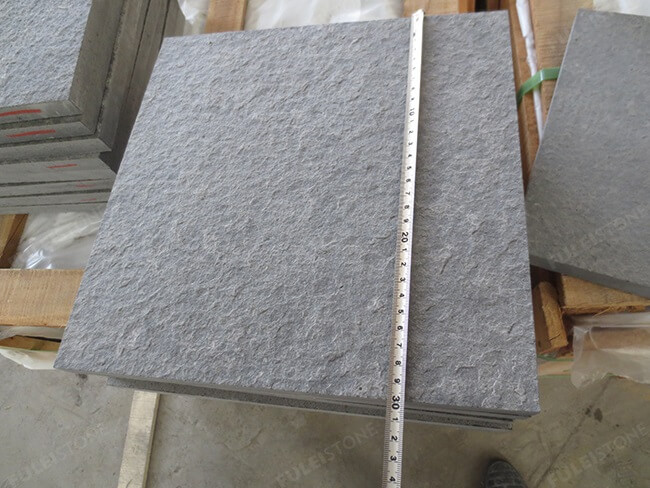 flamed mongolia black granite tile