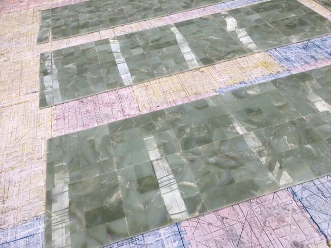 green onyx slab for floor tiles