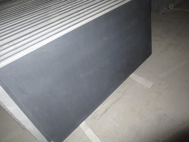 honed mongolia black granite tile