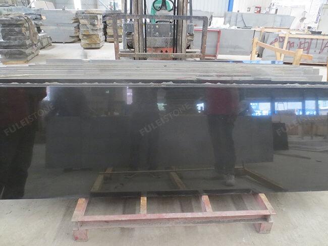 polished mongolia black granite slabs (2)