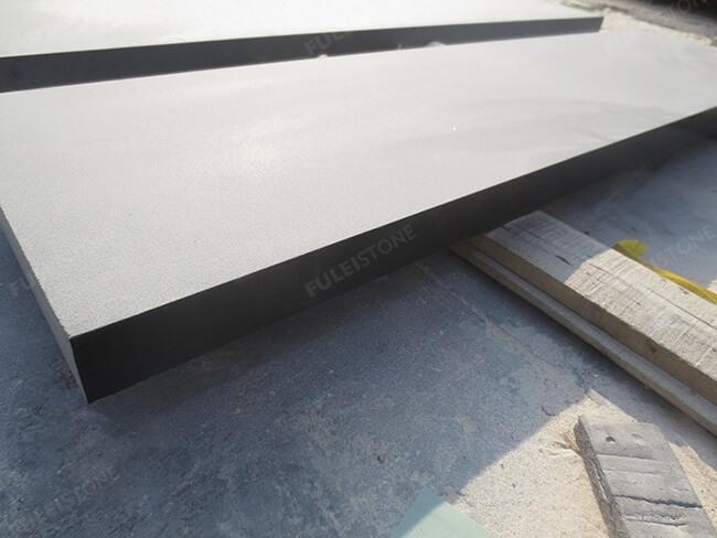 sandblasted mongolia black granite tile