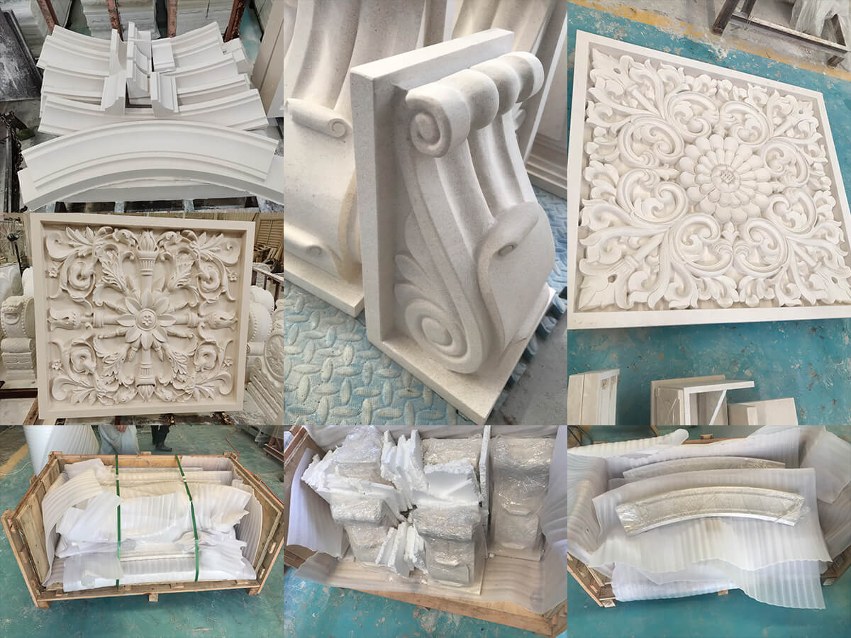 stone carving order processing and package