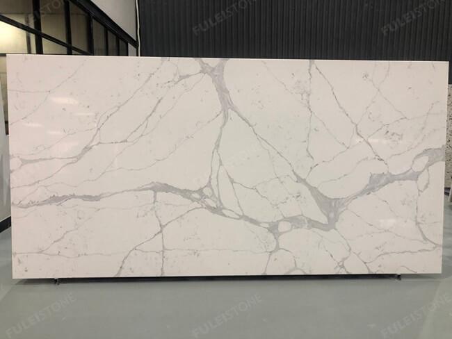 calacatta white and bianco carrara quartz series FLQA- (1)