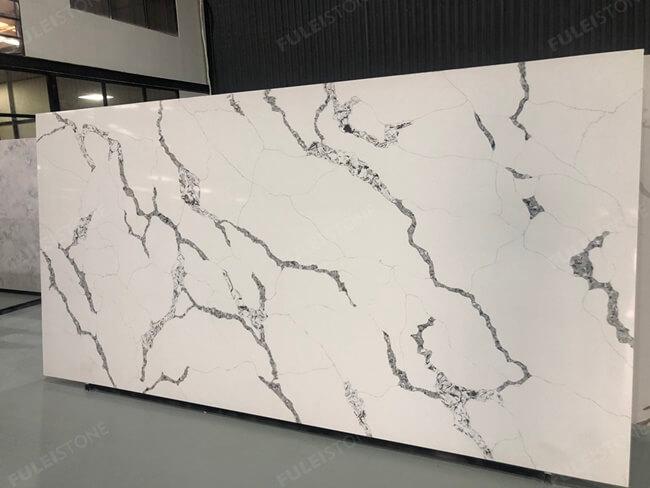 calacatta white and bianco carrara quartz series FLQA- (2)