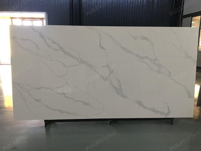 calacatta white and bianco carrara quartz series FLQA- (20)