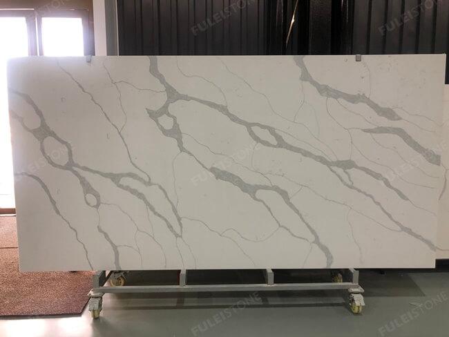calacatta white and bianco carrara quartz series FLQA- (24)