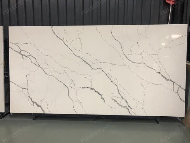 calacatta white and bianco carrara quartz series FLQA- (27)