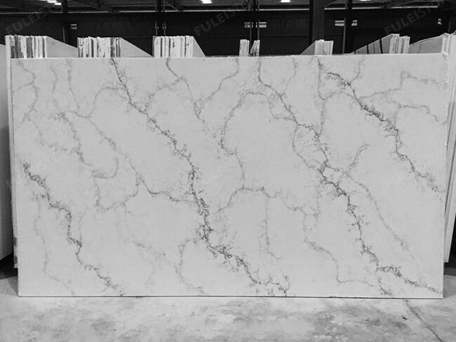 calacatta white and bianco carrara quartz series FLQA- (29)