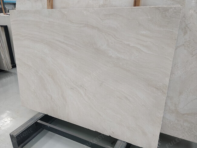 cross veins white travertine slabs (2)