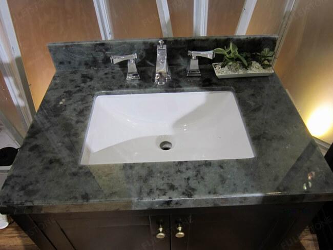 granite Labradorite Blue vanity