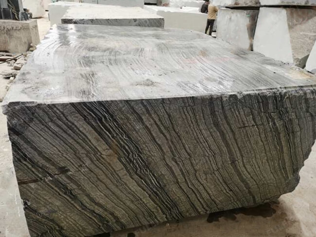 silver wave marble block